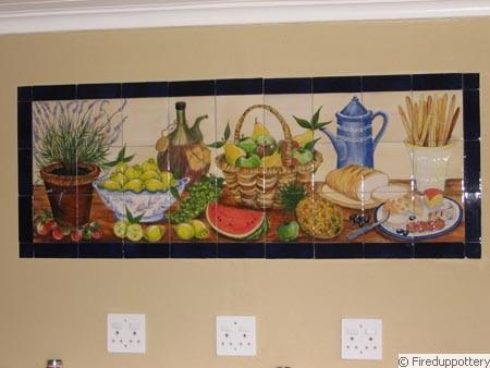 fired up pottery studio tiles murals. Black Bedroom Furniture Sets. Home Design Ideas