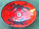 Red Gecko Oval Basin